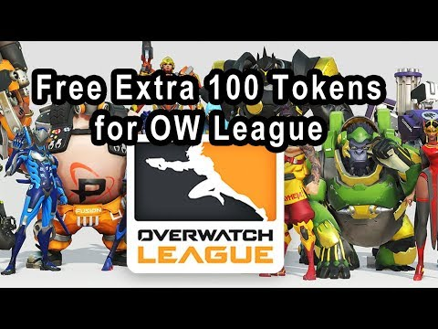 Overwatch League, How to get Extra Free 100 Tokens for skins.