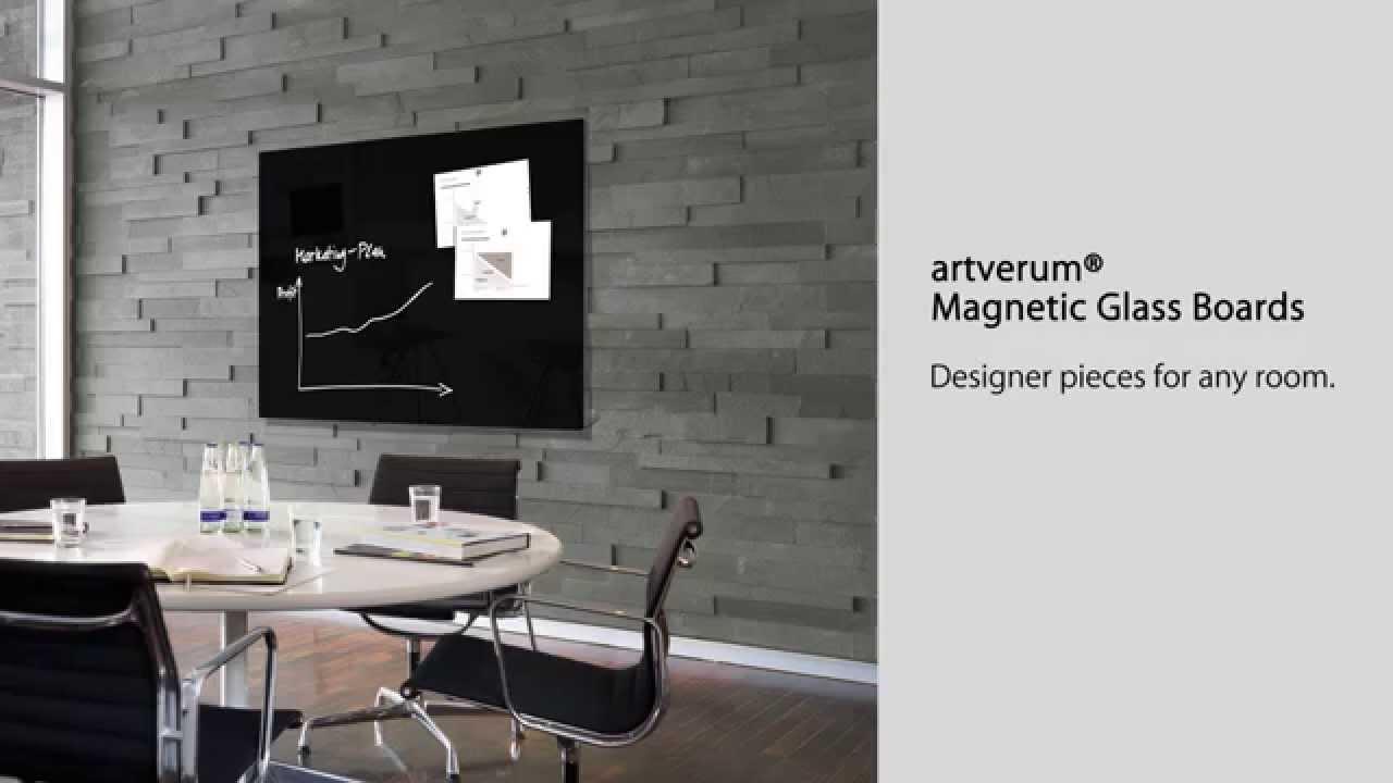 magnetic glass board artverum 120 x 90 cm black gl210 youtube. Black Bedroom Furniture Sets. Home Design Ideas