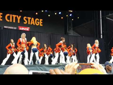 Super Bowl 50 Denver Broncos Cheerleaders Pep Rally 2