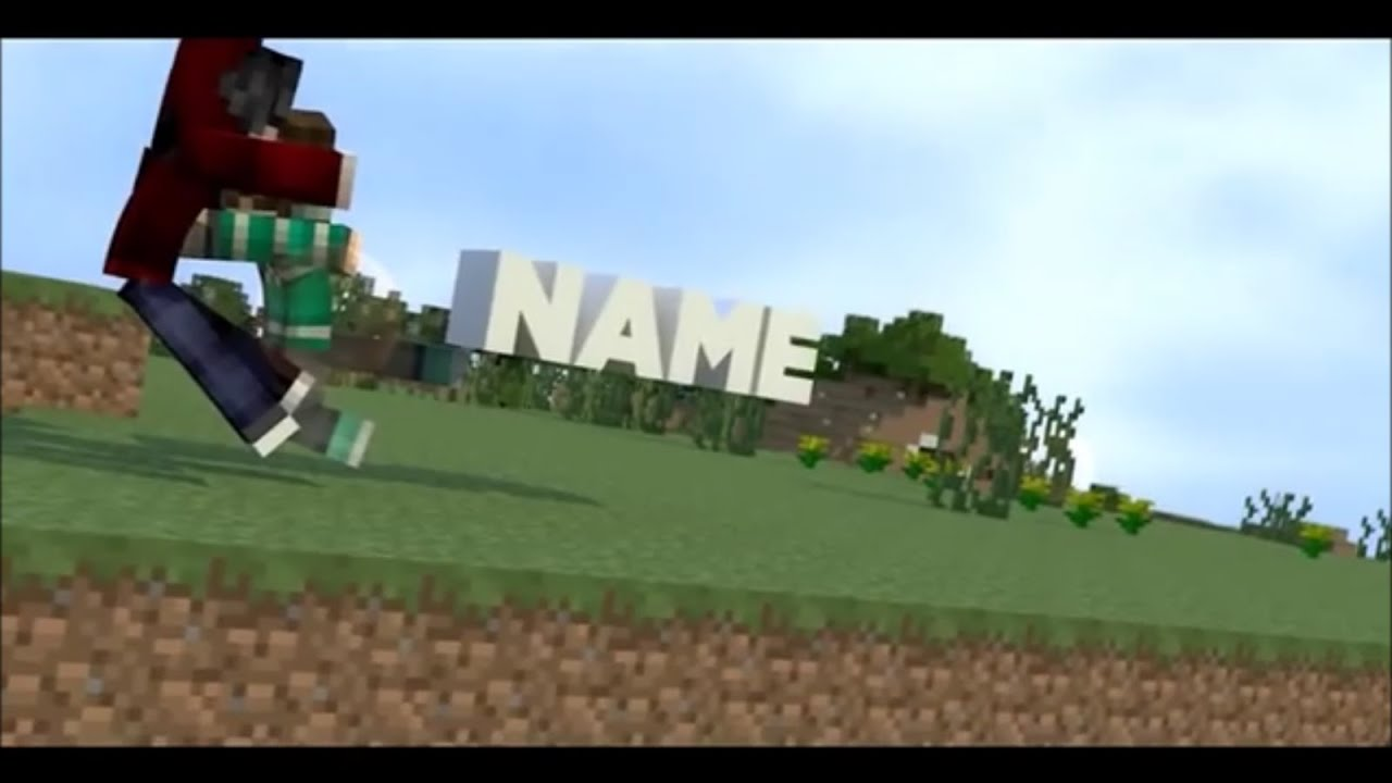 Free 3d Animated Minecraft After Effects Amp Cinema 4d Intro