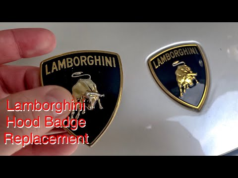 Lamborghini Hood Badge Replacement