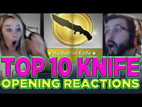 Top 10 CS: GO Knife Opening Reactions