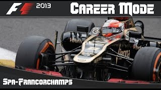 F1 2013 Career Mode: Round 11 Belgian Grand Prix (Spa Francorchamps)