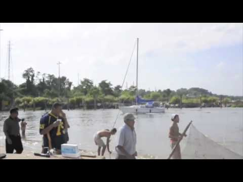 Secret jersey shore beach fishing place youtube for Nj shore fishing report