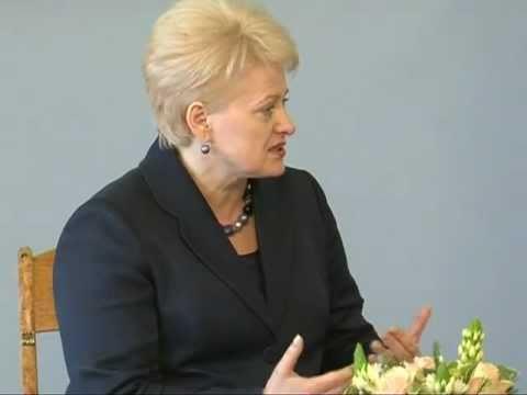 Prezidentė Dalia Grybauskaitė priėmė Seimo Pirmininkę Ireną Degutienę