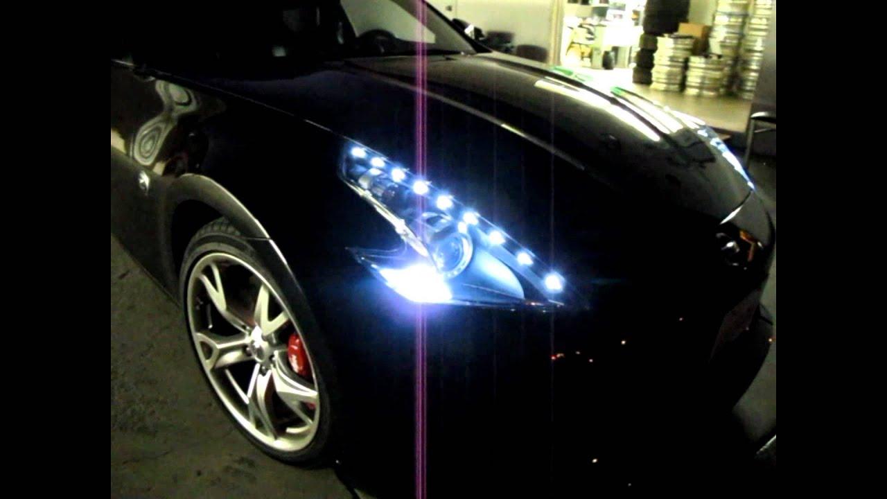 Nissan 370z Custom Led Drl Headlight By Jlc Lighting Youtube