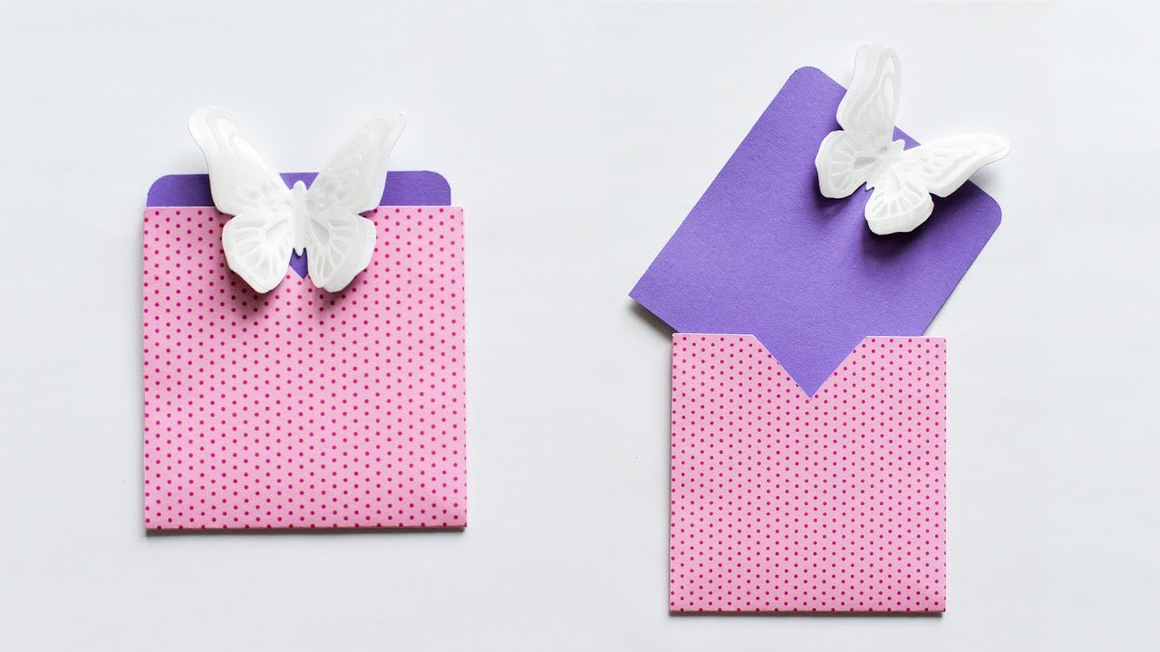 Download How to make : Easy Card with Butterfly Envelope | Kartka z ...
