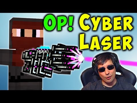 OMG! CYBER LASER Is INSANE! Pixel Gun 3D Special Weapon Review PG3D