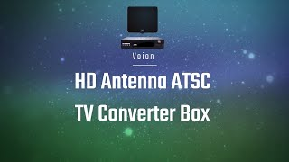 Voion HD Antenna ATSC TV Converter Box  Setup, Settings, & Demonstration