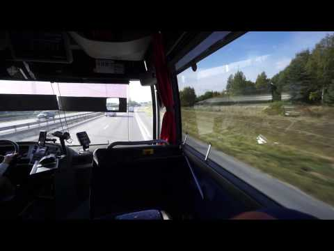 Sweden, Arlanda Airport Coaches/Flygbussarna, ride from Airport Terminal 5 to Stockholm City