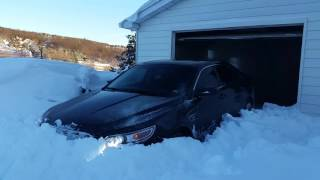 2010 ford taurus SHO 3 feet of snow