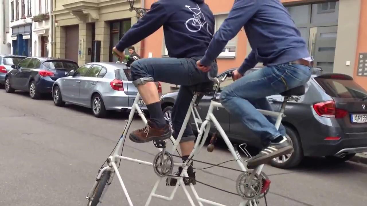 Tandem Tall Bike Fail