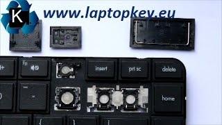 Come montare cambiare un tasto della tastiera di un portatile - Tutorial HP Pavilion G4 G6