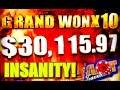 ★grand Jackpot X10 ★ Biggest Jackpot On Youtube Over $30,000 Won Live! video