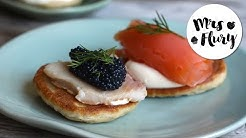 Buchweizen Blini | Pfannkuchen | Blini Rezept | Partygebäck | Mrs Flury