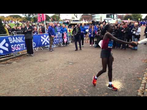 Great Scottish Run 2014 - Top 2 Woman - Edna Kiplagat & Caroline Kilil Kenya
