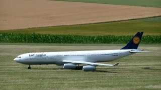 Big R/C Scale Modell Airliner Airbus A-340