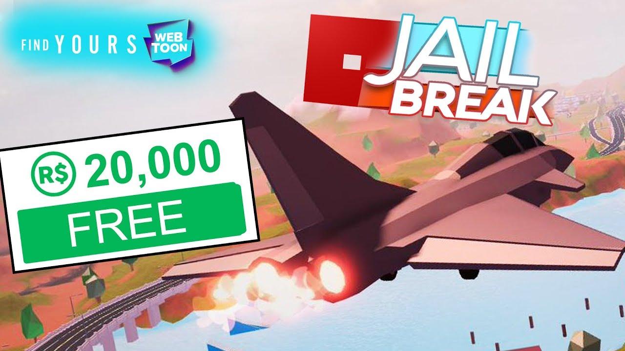 20 000 Free Robux Roblox Jailbreak Planes Update Youtube