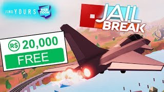 20,000 FREE ROBUX + ROBLOX JAILBREAK Planes Update!!
