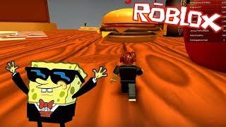 SpongeBob in Roblox-SURVIVING NATURAL DISASTERS