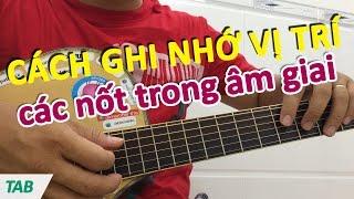 Cách ghi nhớ vị trí các nốt trong âm giai - Học guitar online | Học đàn guitar đệm hát - hocdanghita