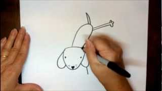 How To Draw A Dog Step By Step Puppy Flipping Easy Drawing Lesson