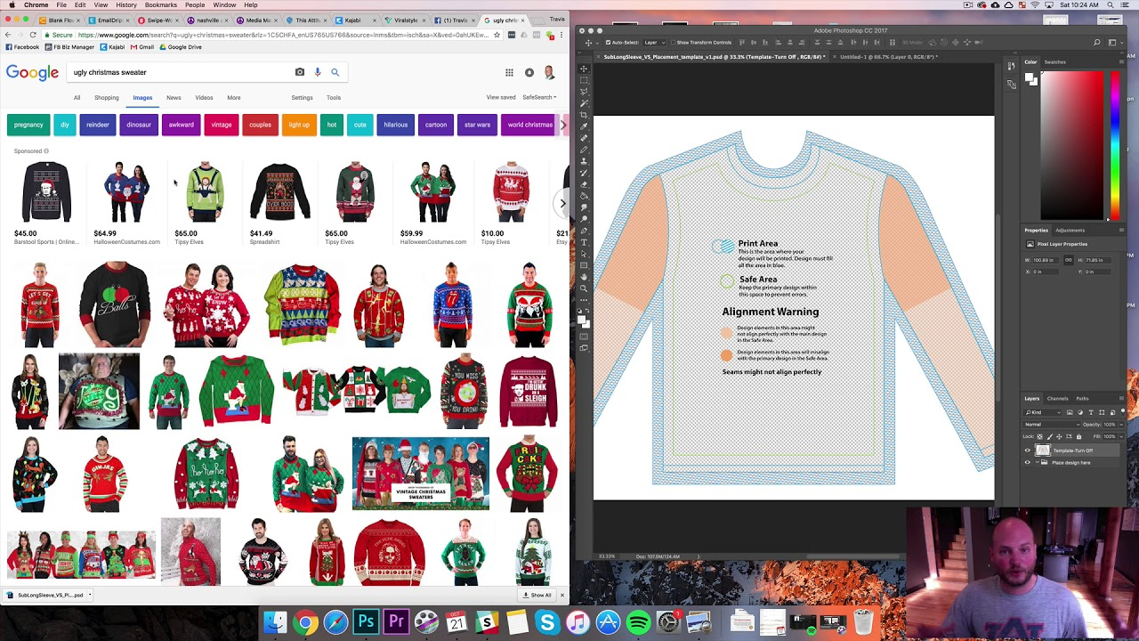 Ugly Christmas Sweaters Print On Demand E Commerce Viral Strategy