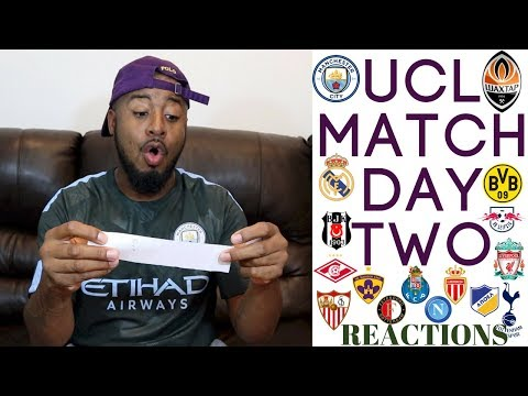 2017/18 UEFA CHAMPIONS LEAGUE MATCH DAY TWO REACTIONS | GROUP E-H