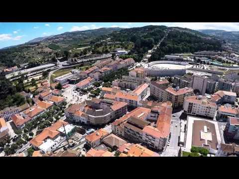 Flight over Lamego, Portugal