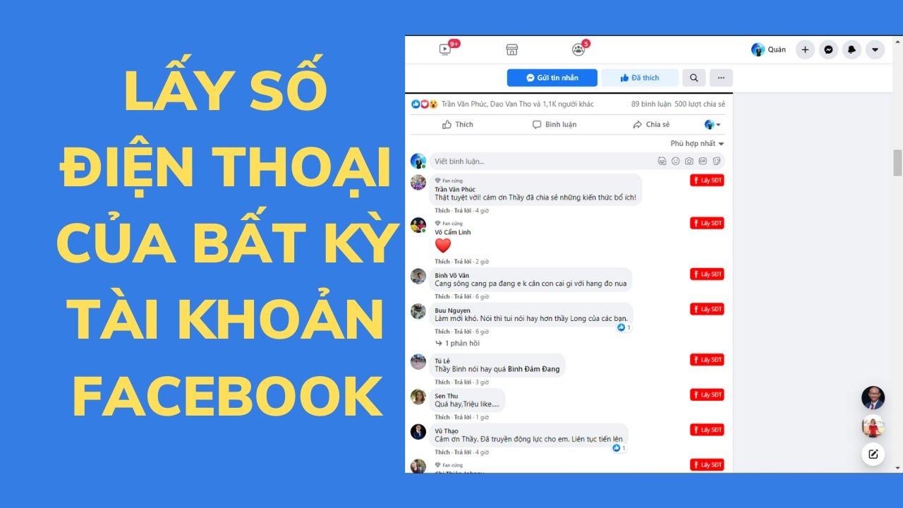 Cách lấy số điện thoại của tài khoản facebook ( Quá dễ)