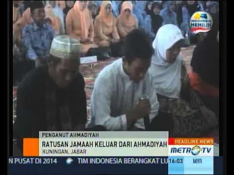 Ratusan Jemaah Keluar dari Ajaran Ahmadiyah - YouTube