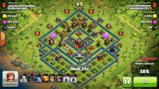 BM078 Balloons and Minions Strategy against champion level opponent Clash of Clans CoC