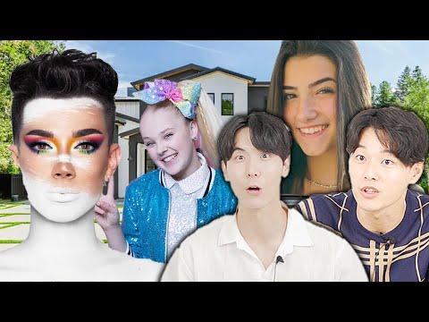 Koreans React to the WILDEST Houses Owned by YOUTUBERS!