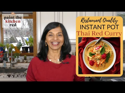 Restaurant Quality Instant Pot Thai Red Curry With Chicken And Vegetables