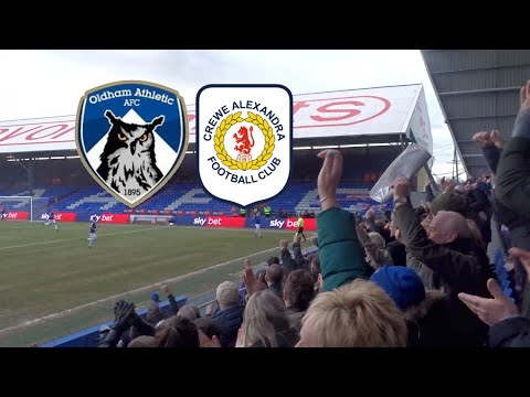 LATE DRAMA IN SCHOLES' FIRST DRAW!! OLDHAM ATHLETIC VS CREWE ALEXANDRA VLOG!!