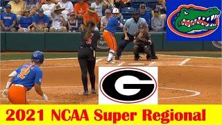 Georgia vs #4 Florida Softball Game Highlights, 2021 NCAA Super Regional Game 2