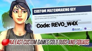 FORTNITE LIVE | 🔴 NA EAST ONLY | Custom Matchs | #Ceeday #AliA #Fe4RLess | Use Code REVO_W4X