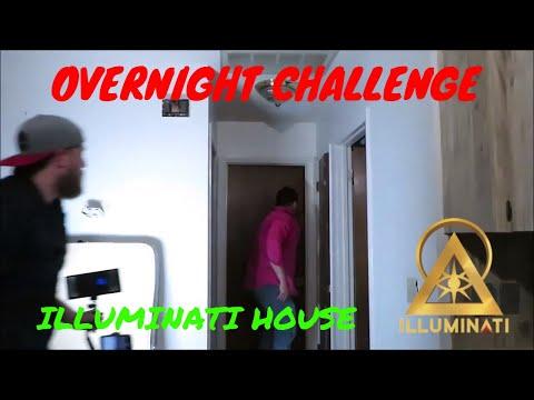 "(OVERNIGHT CHALLENGE) ""ILLUMINATI CARETAKERS HOUSE"" POLTERGEIST AND DEMONS"