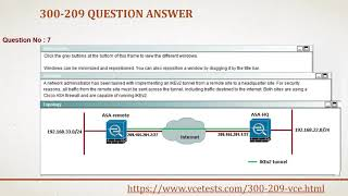 Latest 300-209 VCE Questions Answers - 300-209 Practice Test Study | VceTests |