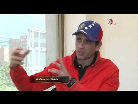 Henrique Capriles con Adela Micha