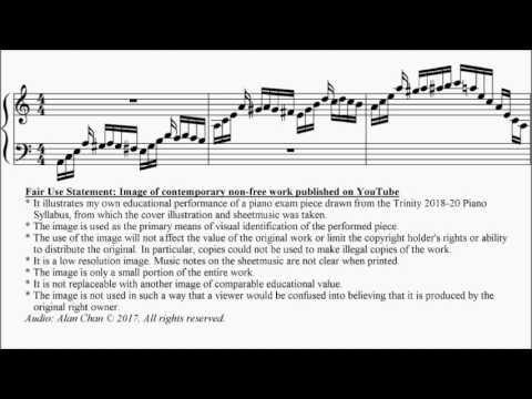 Trinity TCL Piano 2018-2020 Grade 8 A9 Hengeveld Prelude from Partita Rhythmique Sheet Music