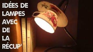 Idées de lampes avec des objets de récup'