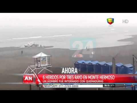Monte Hermoso: cayó un rayo en la playa y hay un herido grave
