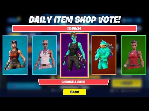 I Used Fortnite ITEM SHOP VOTING Early! *SHOWCASE*