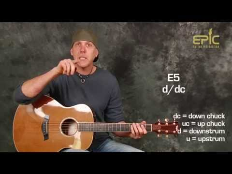 How to play Polly by Nirvana easy guitar song lesson with strumming and chucking patterns chords