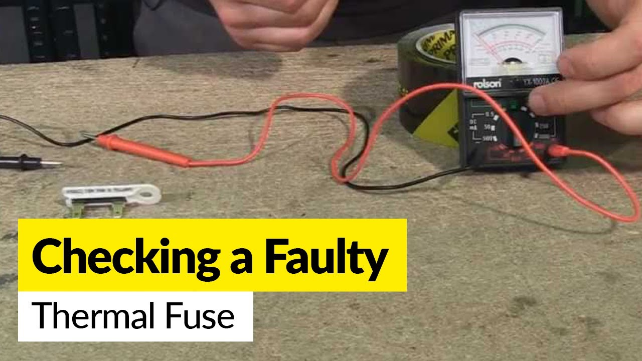 maxresdefault how to check a faulty thermal fuse using a multimeter youtube how to check fuse box with multimeter at gsmx.co