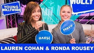 Lauren Cohan & Ronda Rousey Talk Ghost Hauntings & Speeding Tickets!