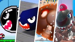 Evolution of all Banzai Bill appearences in Super Mario (Main) Game...