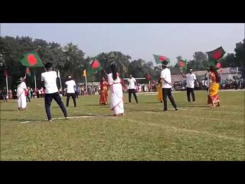 16th December Priyo Bangladesh Song Display  Muktagacha College Rover Scout Group