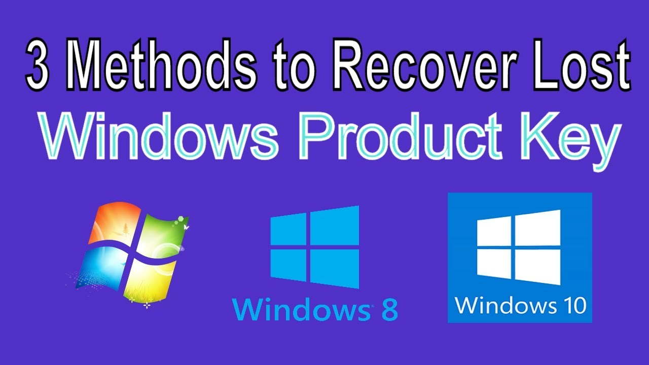 3 Methods to Recover your Windows 10 Product Key - YouTube